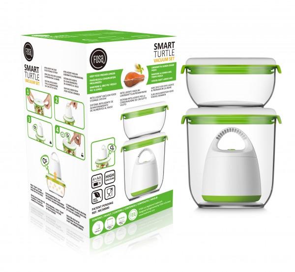 Runde Behälter - MADRID - Vakuum-Startersets - Nahrungsmittel länger frisch